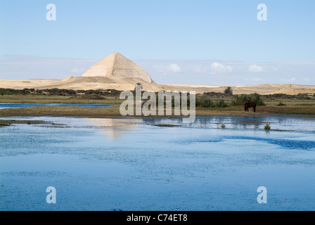 The Pyramids of Dahshur, Egypt. - Stock Photo