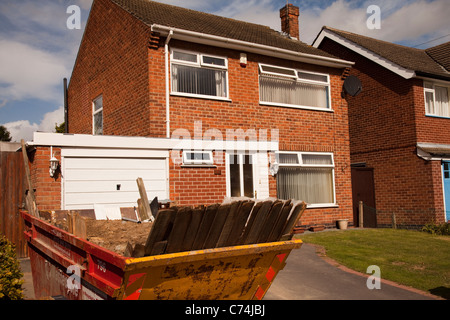 A large detached house being renovated in Nottingham England UK - Stock Photo