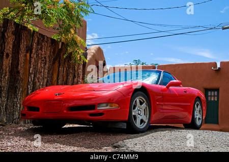 red corvette stingray automobile - Stock Photo