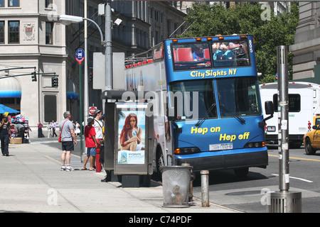 New York City Tour Bus - Stock Photo