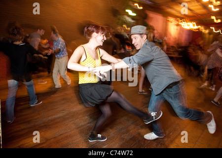 Couple Swing Dancing. Photo:Jeff Gilbert - Stock Photo