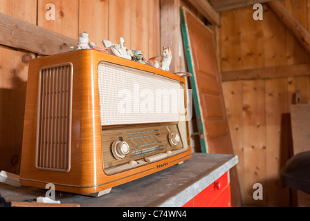 An old radio receiver. Oulu, Finland. - Stock Photo