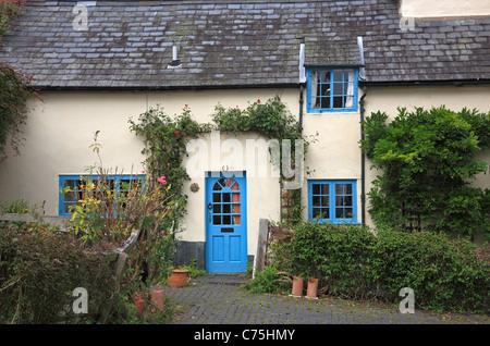 Period Cottage Montgomery Powys Mid Wales UK United Kingdom EU European Union Europe - Stock Photo