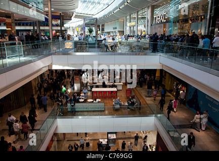 Westfield Stratford City shopping centre, London - Stock Photo