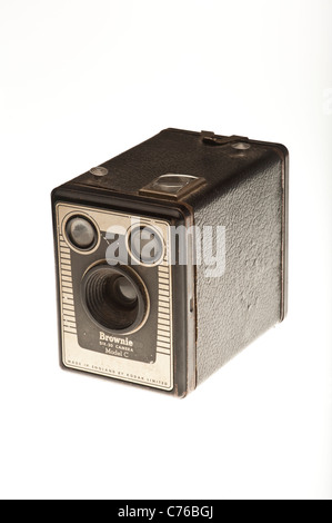 A old kodak box brownie Six-20 Model C film camera from the 1950s - Stock Photo