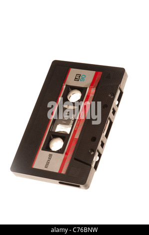 Old C90 audio cassette tapes - Stock Photo