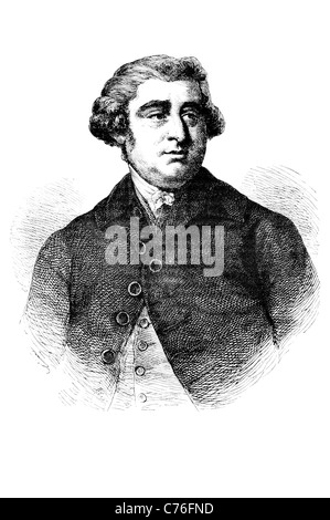 Portrait Charles James Fox The Honourable British Whig statesman Parliament parliamentary career arch rival William - Stock Photo
