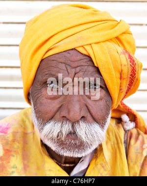 Indian Sadhu At the Holi Festival Mathura India - Stock Photo