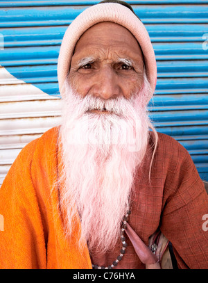 Indian Sadhu At the Holi Festival Mathura India - Stock Photo