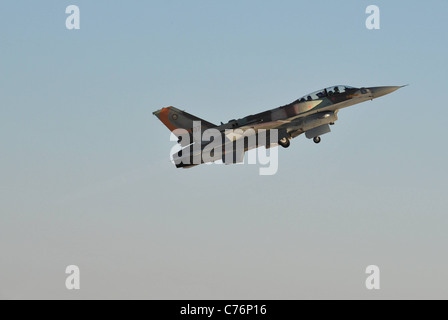 Israeli Air Force F-16I plane during a flight demonstration - Stock Photo