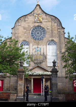 Zara Phillips and Mike Tindall married at Canongate Kirk in Edinburgh on July 30 2011. - Stock Photo