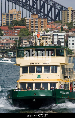 A Commuter Ferry On Sydney Harbour In Sydney In New South
