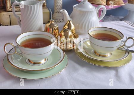 Afternoon tea setting - Stock Photo