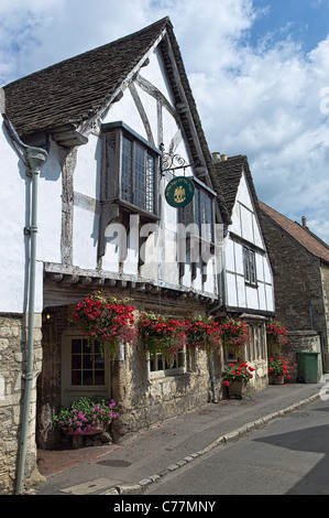 At The Sign of the Angel in Lacock village England UK - Stock Photo