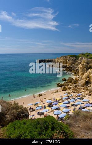 Portugal, the Algarve, Praia do Castelo beach near Albufeira - Stock Photo