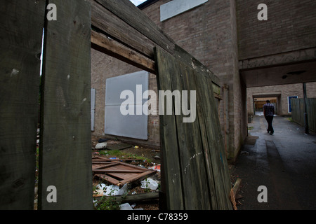 A repossessed house in corby Northmaptonshire - Stock Photo