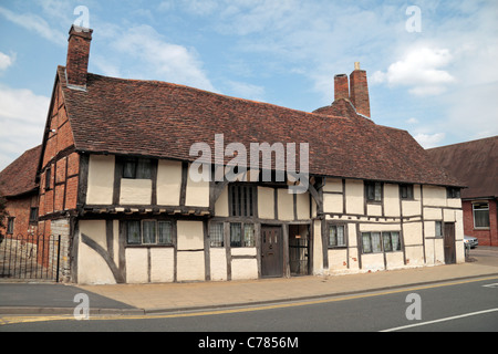 Mason's Court, a medieval building built in 1450, Rother Street, Stratford Upon Avon, Warwickshire, UK. - Stock Photo
