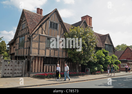 Hall's Croft, the home of Doctor John Hall, in Stratford Upon Avon, Warwickshire, UK. - Stock Photo