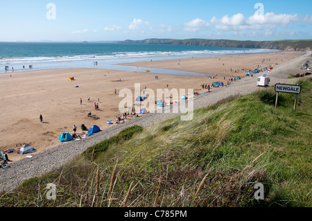 Newgale Beach in Pembrokeshire, Wales UK - Stock Photo