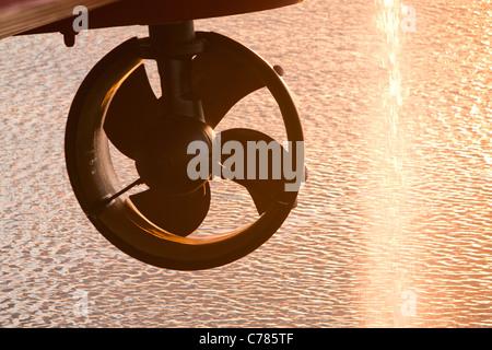 Propellers on the jack up barge, Krakken. - Stock Photo