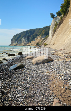 Chalk Cliffs, Jasmund National Park, Ruegen, Mecklenburg Vorpommern, Germany - Stock Photo