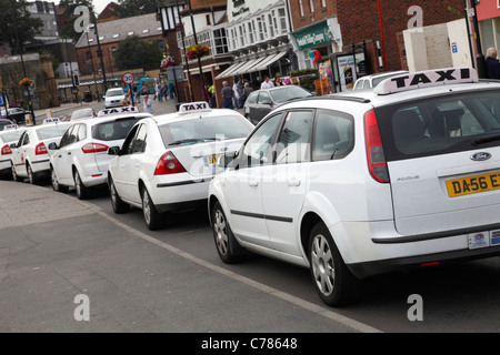 A taxi rank in Whitby, North Yorkshire, England, U.K. - Stock Photo