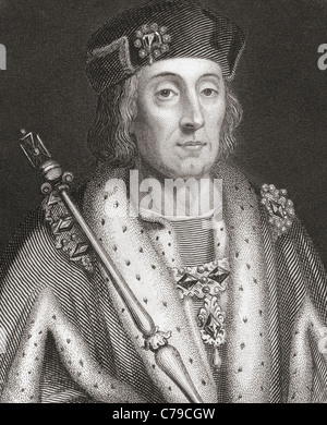 Henry VII, 1457 – 1509. King of England and Lord of Ireland. - Stock Photo