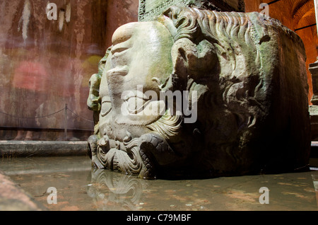 Turkey, Istanbul. Basilica Cistern (aka Yerebatan Sarnici / Sarayi or Sunken Palace), c. Byzantine Empire (527-565 - Stock Photo
