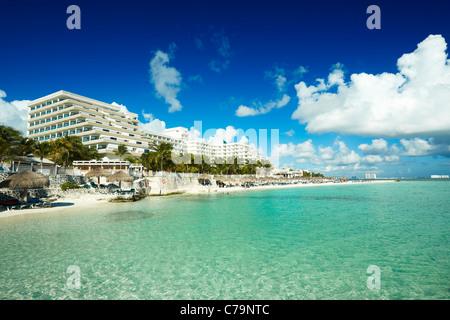 Cancun beach Mexico - Stock Photo