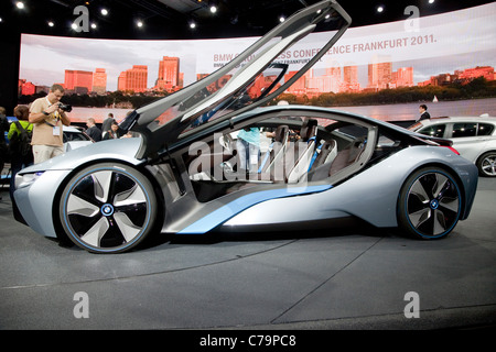 New BMW i8 Electric Concept Caron the IAA 2011 International Motor Show in Frankfurt am Main, Germany - Stock Photo