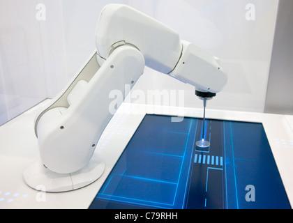 BMW Efficcient Dynamics Presentation with robot on the IAA 2011 International Motor Show in Frankfurt am Main, Germany - Stock Photo