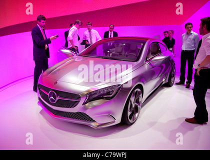 New Mercedes Benz A-Class Concept on the IAA 2011 International Motor Show in Frankfurt am Main, Germany - Stock Photo