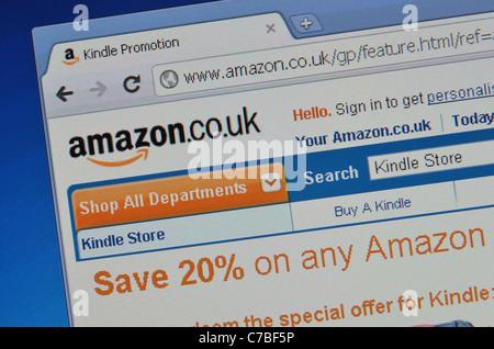 Amazon website screenshot - Stock Photo