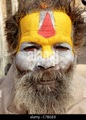 Indian Sadhu Durbar Square Kathmandu  Nepal Asia - Stock Photo