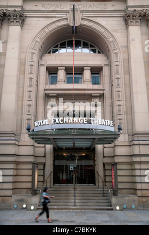 The main entrance to The Royal Exchange Theatre in Manchester, UK. - Stock Photo