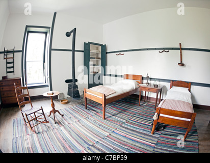 Bedroom in a shaker house - Stock Photo