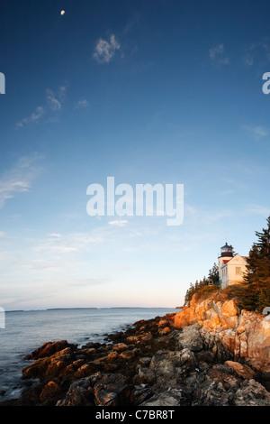 Bass Harbor Head Light, Acadia National Park, Bass Harbor, Tremont, Maine, USA - Stock Photo