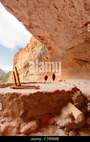 Alcove House, Bandelier National Monument, New Mexico, USA - Stock Photo