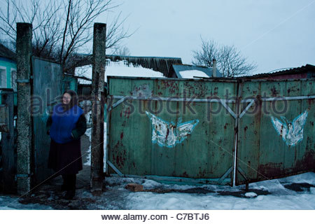 Chernobyl 25 years later, Inhabitant of the exclusion zone - Stock Photo