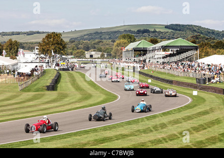 Goodwood Motor Circuit on the first day of the Goodwood Revival Meeting 2011. - Stock Photo