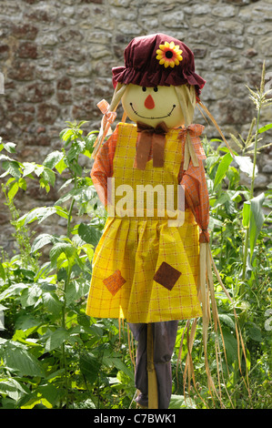 Female lady scarecrow sold for use on allotments, vegetable and fruit gardens