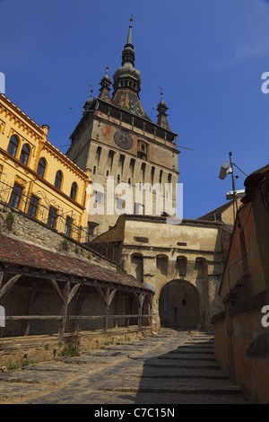 Image of the Clock Tower in Sighisoara,Romania. - Stock Photo