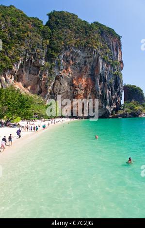 Tham Phra Nang Beach, Krabi, Thailand - Stock Photo