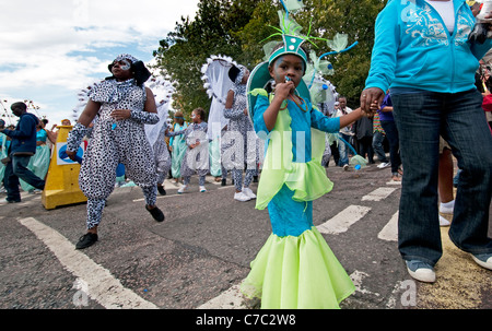 Notting Hill annual West Indian Carnival in London  2011 - Stock Photo