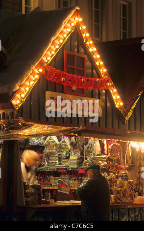 christmas market place saint louis st louis square metz moselle stock photo royalty free image. Black Bedroom Furniture Sets. Home Design Ideas