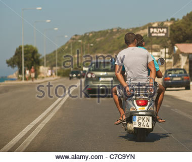 Motorbike Greece - Stock Photo