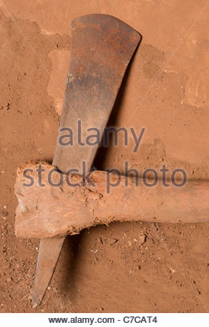 African farming tool weapon - possibly Tanzanian Tanzania Africa - Stock Photo