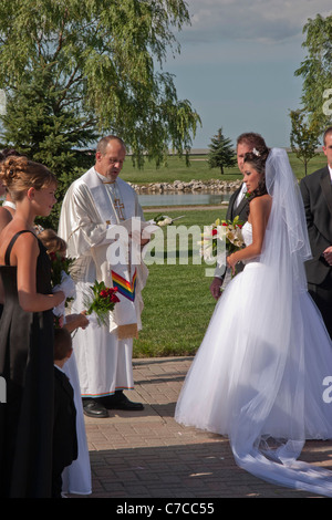 Christian interracial vow wedding