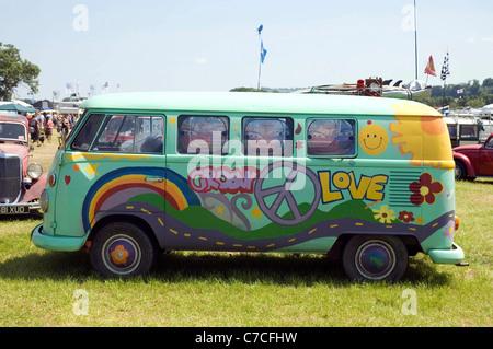 Old Painted Vw Camper Van Hippie Van Matala Crete