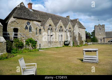 Stokesay Castle, Shropshire, England - Stock Photo